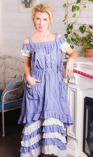 льняное платье бохо из турции