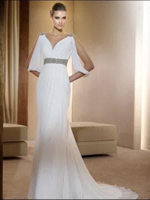 свадебные платья с длинным рукавом Лепесток