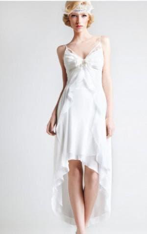 свадебное асимметричное платье от LeRina