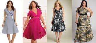 какое платье подойдет невысокой полной девушке