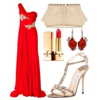 с какими босоножками носить красное платье