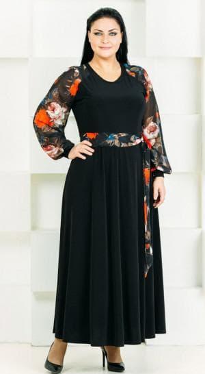 платье с рукавами для больших женщин