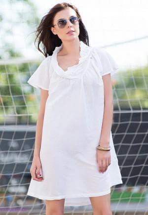 летние короткое платье из льна на каждый день