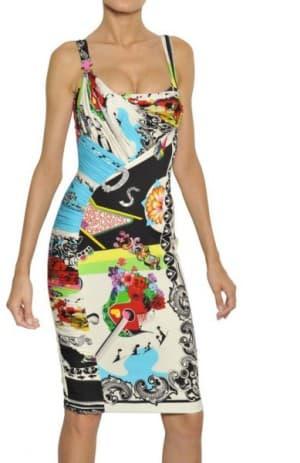 итальянское платье из натурального шелка от Versace