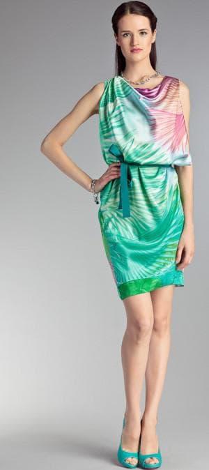 итальянское коктейльное платье из натурального шелка