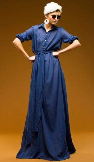 длинное платье рубашка с маленькой грудью