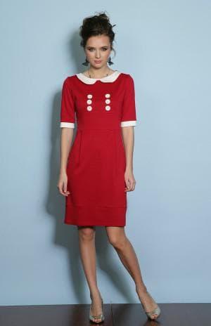 летние короткое ретро платье на каждый день