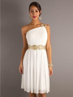 белое простое платье в греческом стиле