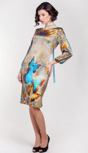 итальянское платье из натурального шелка от LOST INK