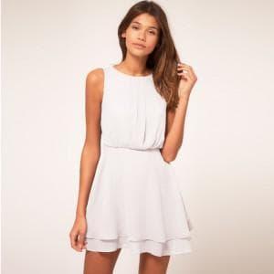 летние короткое белое платье на каждый день
