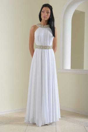 белое длинное платье в греческом стиле