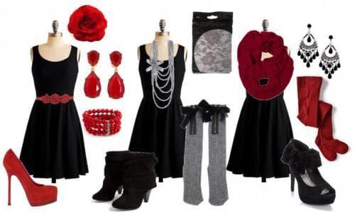 обувь и аксессуары для чёрного платья