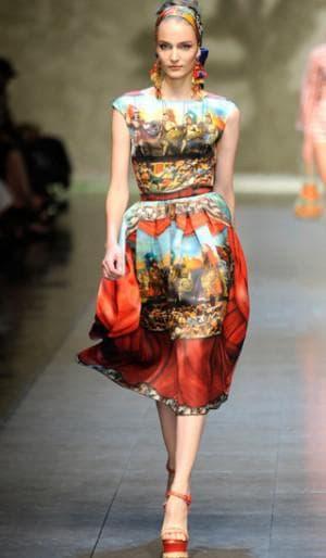 платье из натурального шелка DOLCE & GABBANA
