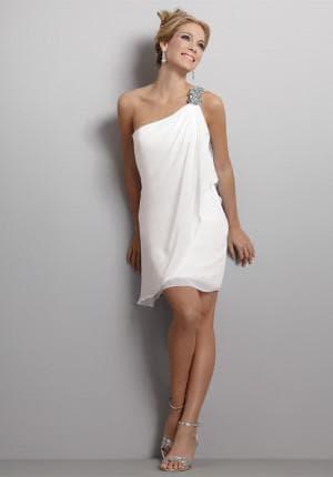 белое короткое платье в греческом стиле
