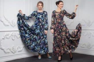 длинные платья из штапеля