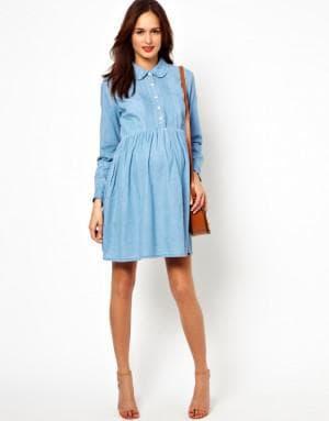 летние платье рубашка для беременной