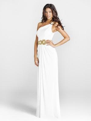 белое вечернее платье в греческом стиле