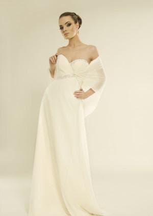 свадебное платье Ампир цвета айвори