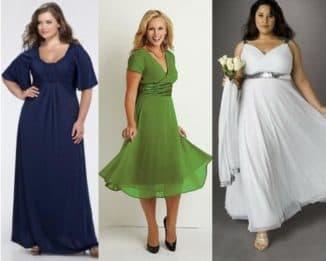 модели вечерних платьев для полных женщин