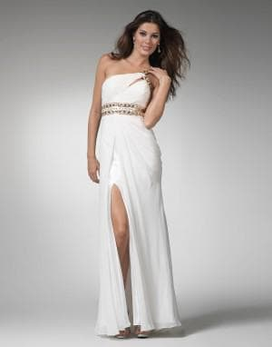 белое платье на выпускной вечер в греческом стиле
