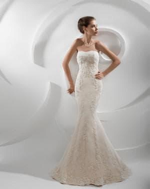 свадебное платье русалка цвета айвори