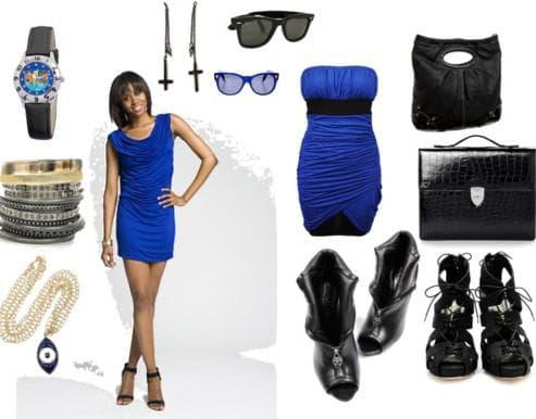 обувь и аксессуары для синего платья