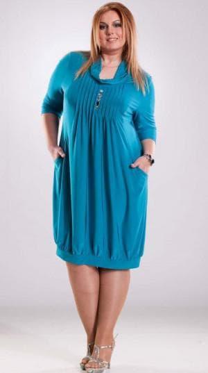 платье с баллоном для больших женщин