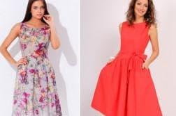 летнее шифоновое платье для полных