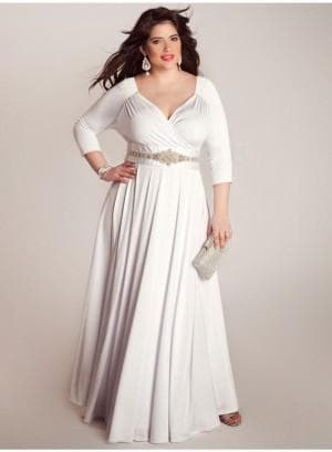 белое платье для полных в греческом стиле