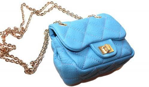 маленькая сумочка на цепочке для синего платья