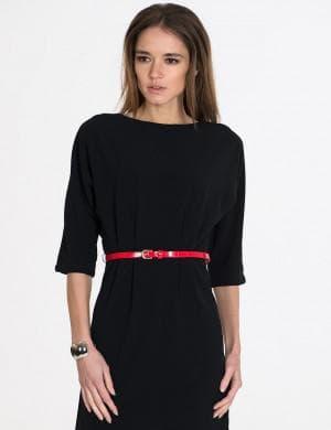 черное платье с фасоном заниженной талии от кира пластинина