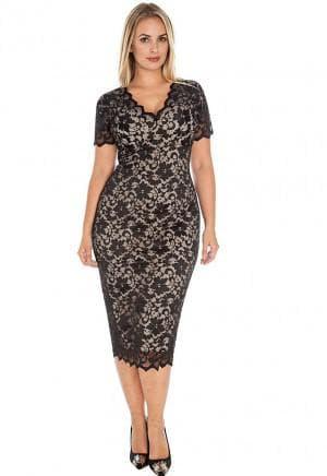 гипюровые платья с V образным вырезом больших размеров