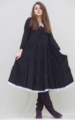 платье бохо из штапеля