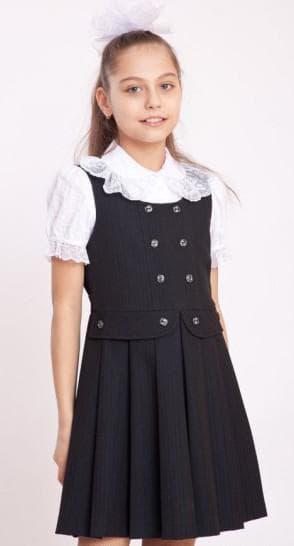 сарафан с юбкой плиссе для школы для девочек