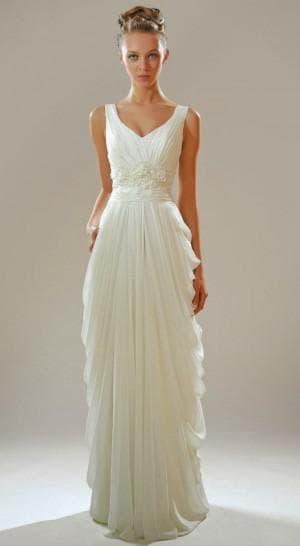 белое подвенечное платье в греческом стиле