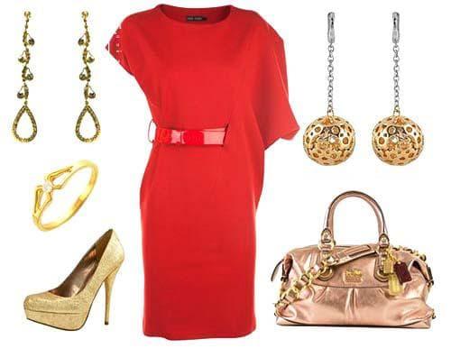 обувь и аксессуары для красного платья