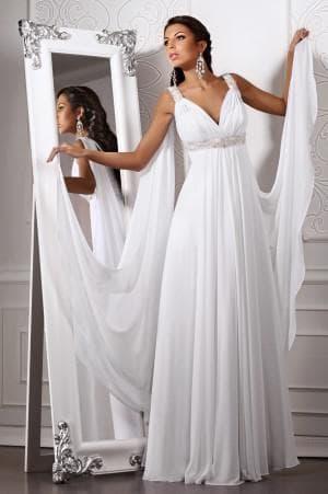 белое платье в греческом стиле от Elena Miro