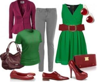 темно зеленое платье с чем носить
