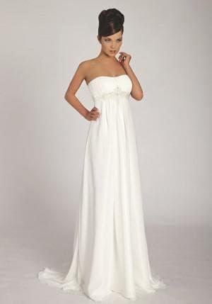 белое платье в греческом стиле от Marina Rinaldi