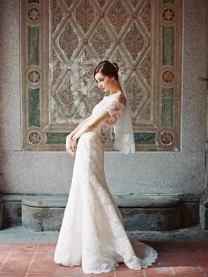 свадебное платье цвета айвори от Sareh Nouri