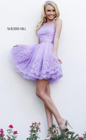 короткое платье sherri hill