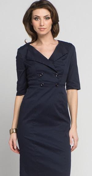 платье с запахом на пуговицах спереди