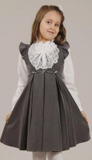 сарафан с пышной юбкой для школы для девочек