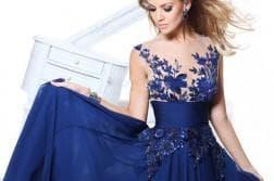 платье с рюшами и воланами