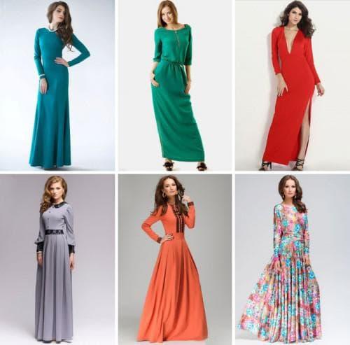 прямой фасон платья с длинными рукавами