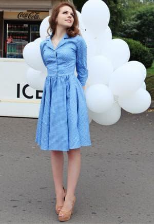 платье рубашка французской длины