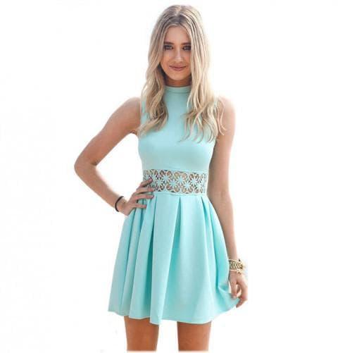 красивые платья без рукавов на лето