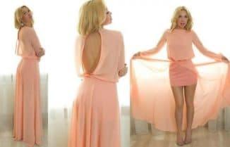 легкие платья в пол из шифона