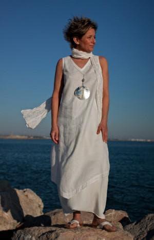 платье бохо из льна