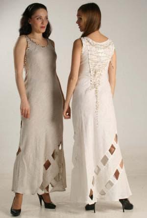 льняное платье в пол из турции